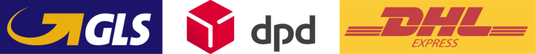 Supported courier logos DPD, GLS, DHL