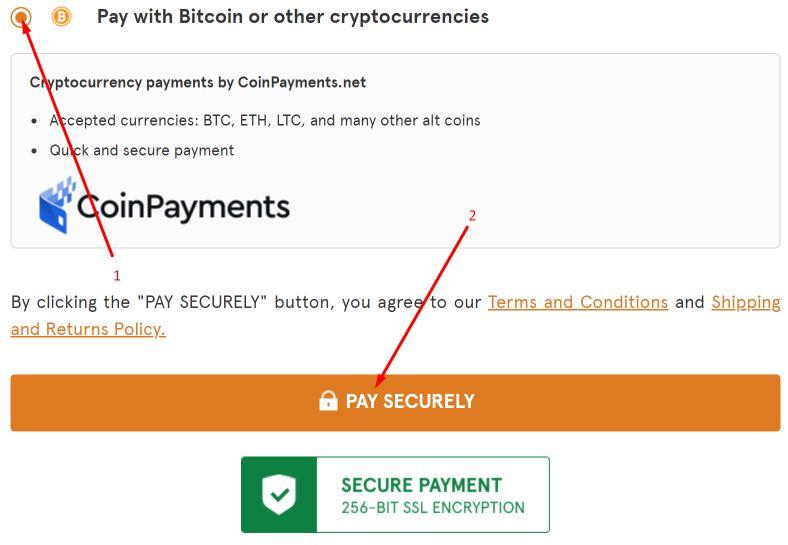 bitcoin payment to buy kratom